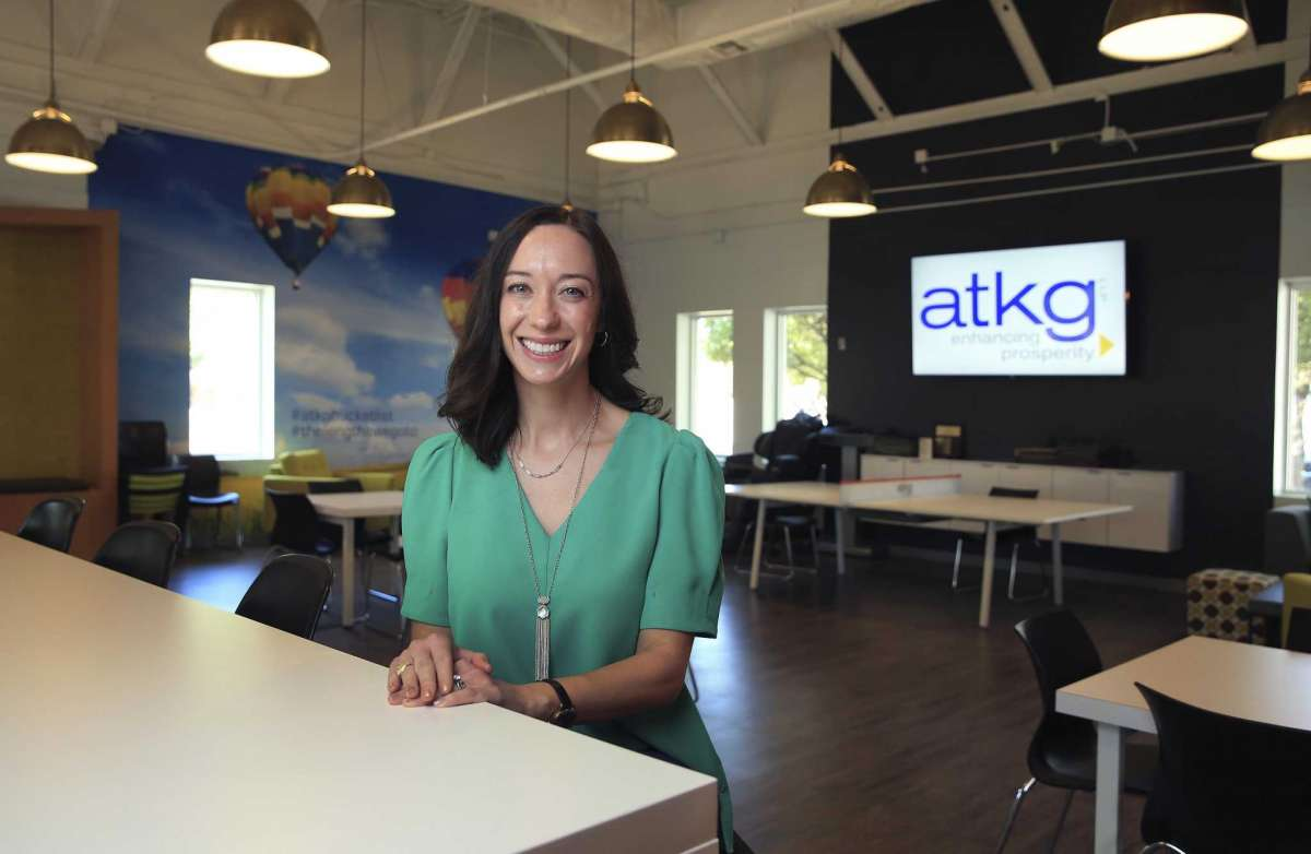 Portrait of Allison Miller, director of the federal tax practice for ATKG, a San Antonio accounting firm that is about to celebrate its 40th anniversary.